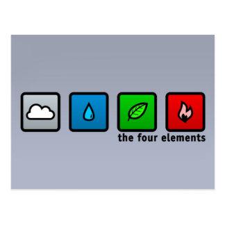 The Four Elements Postcard