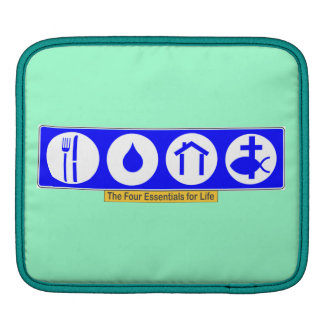 The Four Essentials for Life iPad Sleeve