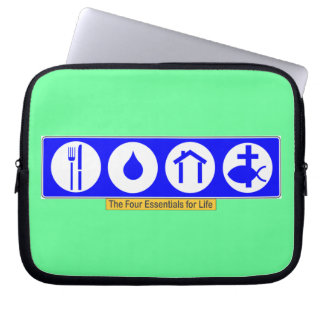 The Four Essentials for Life Laptop Computer Sleeves