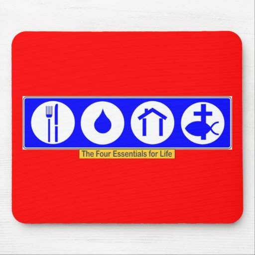The Four Essentials for Life Mousepad