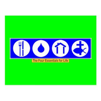 The Four Essentials for Life Postcard