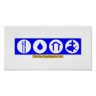 The Four Essentials for Life Print