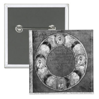 The four evangelists 2 inch square button
