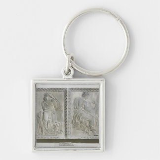 The Four Evangelists Silver-Colored Square Keychain