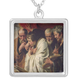 The Four Evangelists Silver Plated Necklace