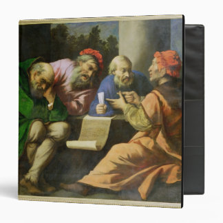 The Four Fathers of the Church (oil on canvas laid 3 Ring Binder