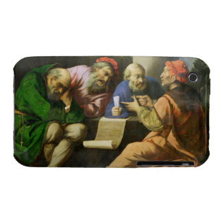 The Four Fathers of the Church (oil on canvas laid iPhone 3 Case