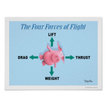 THE FOUR FORCES OF FLIGHT by Sandra Boynton Poster