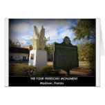 THE FOUR FREEDOMS MONUMENT - MADISON, FL CARDS