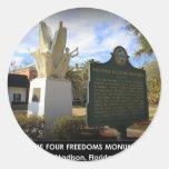 THE FOUR FREEDOMS MONUMENT - MADISON, FL ROUND STICKER