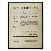 The Four Freedoms Poster
