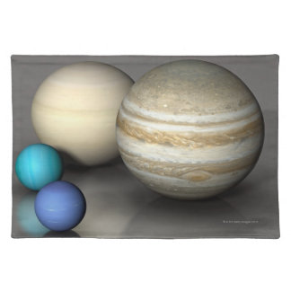 The Four Largest Planets Cloth Placemat