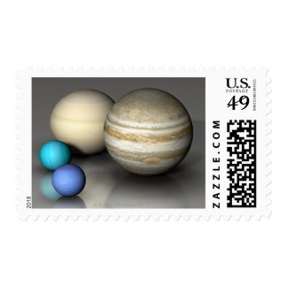 The Four Largest Planets Stamps