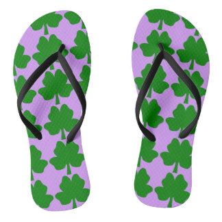 The Four-Leaf Clover For Luck Flip Flops
