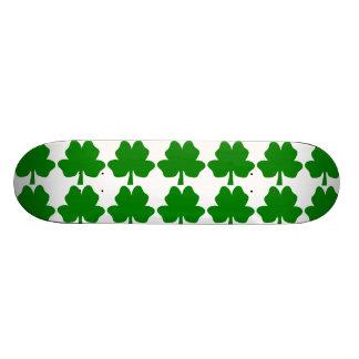 The Four-Leaf Clover For Luck skateboard
