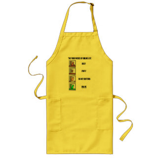 The Four Modes Of Online Life (Squirrel Icons) Long Apron