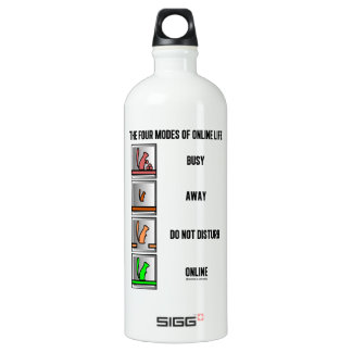 The Four Modes Of Online Life (Squirrel Icons) SIGG Traveler 1.0L Water Bottle