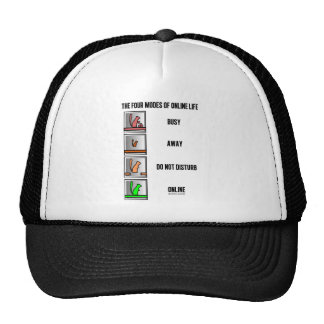 The Four Modes Of Online Life (Squirrel Icons) Trucker Hat