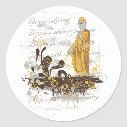 The Four Noble Truths Classic Round Sticker