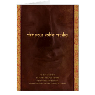 The Four Noble Truths of Buddhism, card