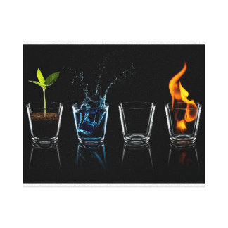 The Four of element Canvas Print
