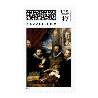 The Four Philosophers Postage Stamp