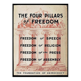 The Four Pillars Of Freedom Postcard