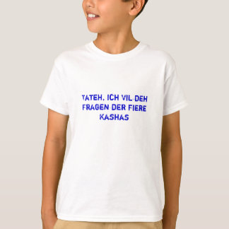 The Four Questions Yiddish Shirt