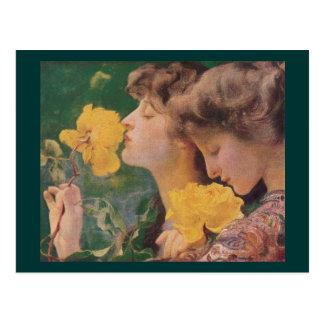 The Four Roses by Frant Dvorak Postcard