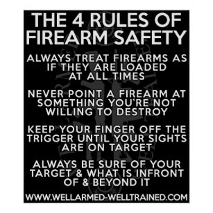 graphic regarding Printable Gun Safety Rules identified as Firearm Protection Items upon Zazzle