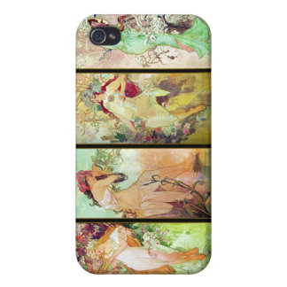 The four seasons, Alphonse Mucha iPhone 4/4S Cover