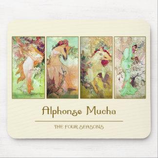 The four seasons, Alphonse Mucha Mousepad