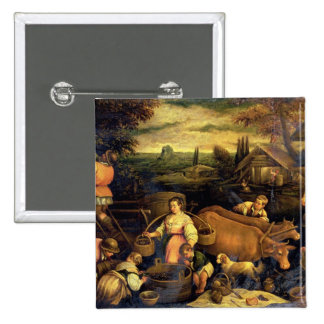 The Four Seasons: Autumn 2 Inch Square Button
