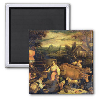 The Four Seasons: Autumn 2 Inch Square Magnet