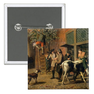 The Four Seasons, Autumn (oil on canvas) (see 1667 2 Inch Square Button