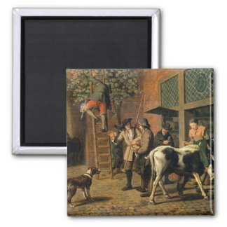 The Four Seasons, Autumn (oil on canvas) (see 1667 2 Inch Square Magnet