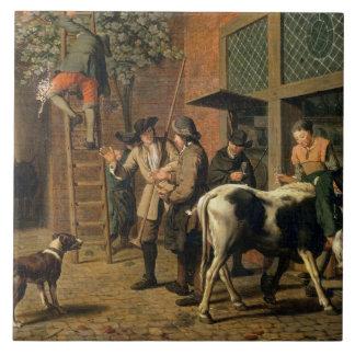 The Four Seasons, Autumn (oil on canvas) (see 1667 Ceramic Tile