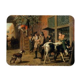 The Four Seasons, Autumn (oil on canvas) (see 1667 Rectangular Photo Magnet