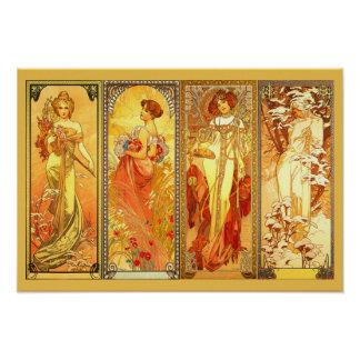 The Four Seasons  - by Alfons Mucha Poster