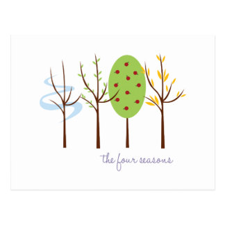 The Four Seasons Postcard