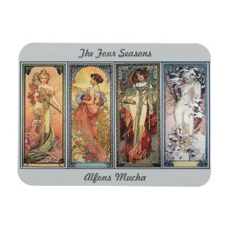 The Four Seasons Rectangular Photo Magnet