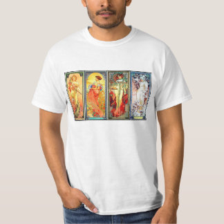 The Four Seasons series 3 by Mucha T-shirt