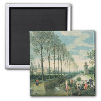 The Four Seasons: Spring 2 Inch Square Magnet