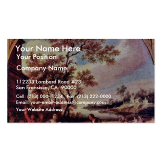 The Four Seasons: Spring Oval By Quillard Pierre-A Double-Sided Standard Business Cards (Pack Of 100)