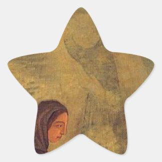 The Four Seasons, Winter by Paul Cezanne Star Sticker