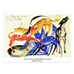 The Four Service Dogs Of Prince Jusuff Postcards