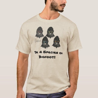 The Four Species of Bigfoot T-Shirt