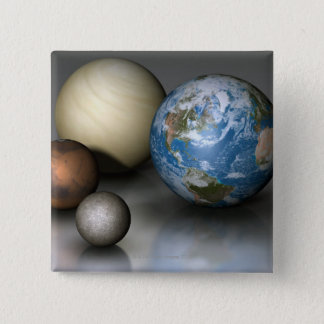 The Four Terrestrial Planets Button