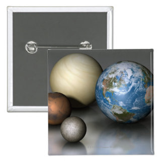 The Four Terrestrial Planets Pinback Button