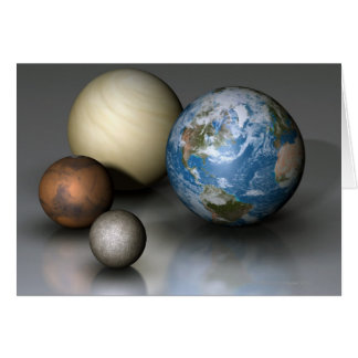 The Four Terrestrial Planets Card